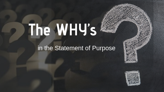Why's of Statement of Purpose