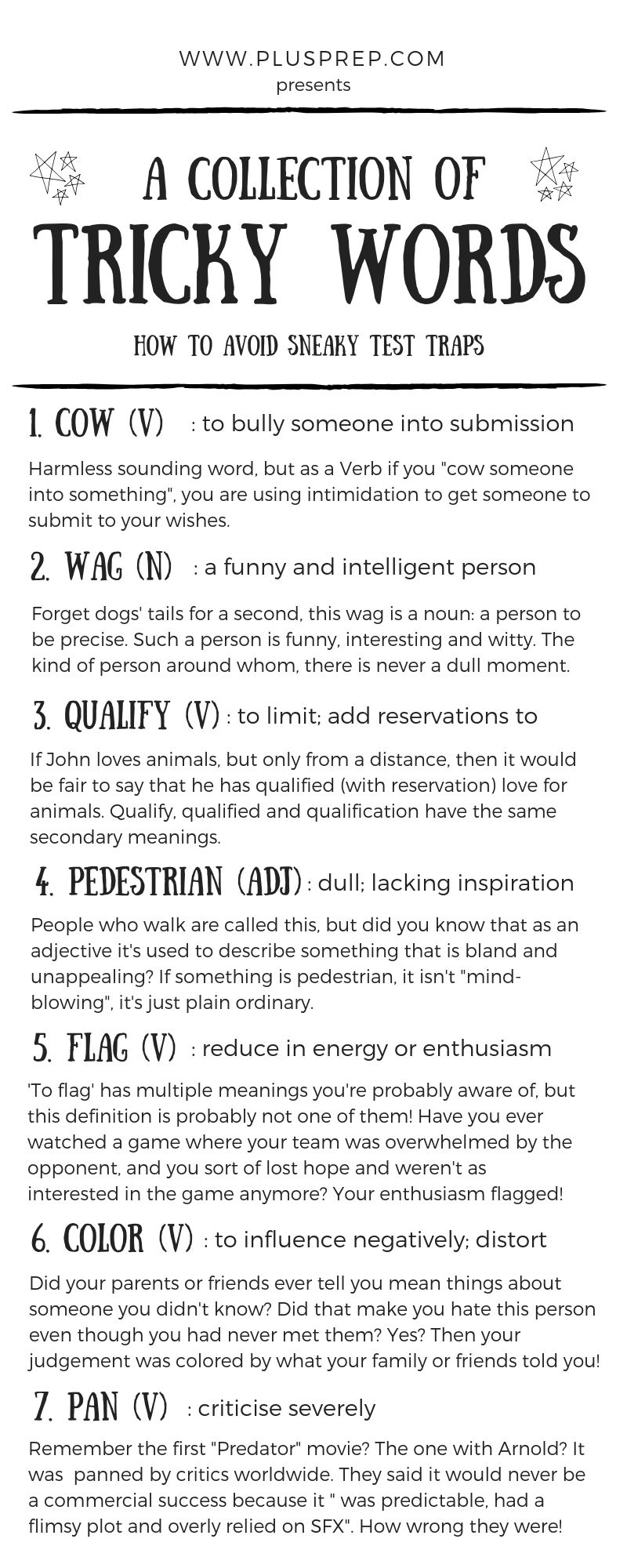 10 Tricky GRE words that aren't what they seem!   Plusprep