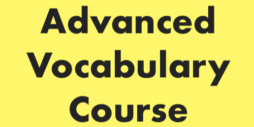 advanced vocabulary course | plusprep