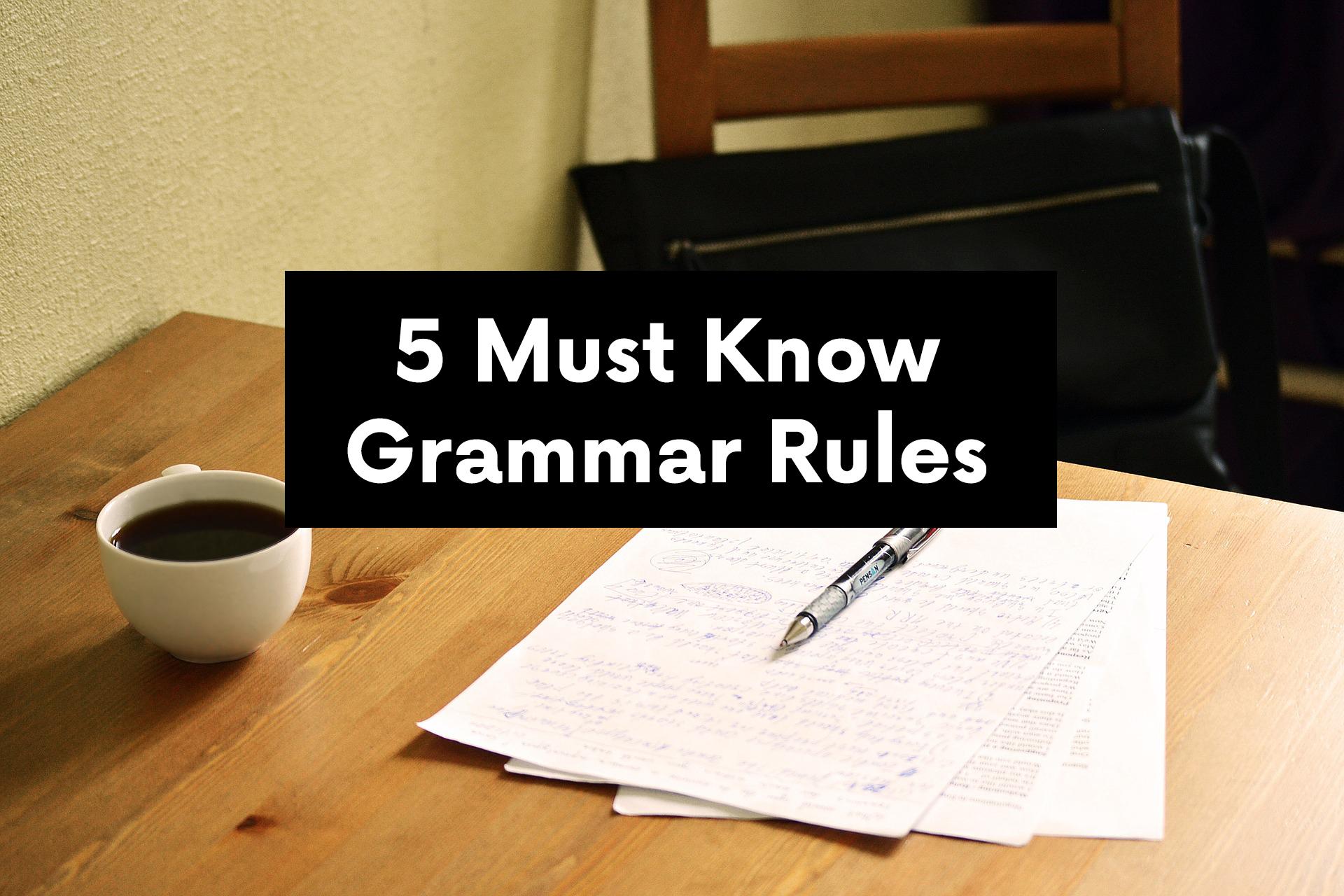 5 must know grammar rule | Plusprep