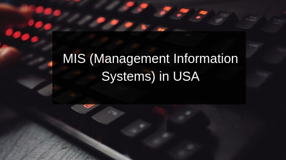 MIS (Management Information Systems) in USA