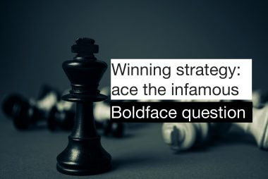 how to solve boldface questions