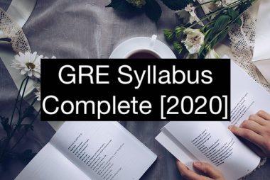 GRE syllabus 2020 Plusprep